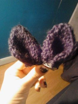 Cat Ear Hairclips by ValentineRevenge