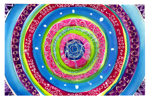Concentric Circle Doodle by jenthestrawberry