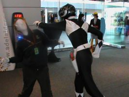 The Black Ranger Punches Coyle Commander by Coyle-Command