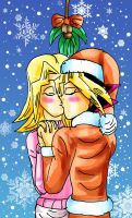 A Kiss with Atemu Claus by YamchaFan91