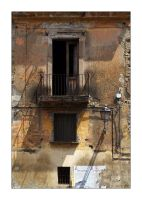 Windows, street lamp n cables by Philla