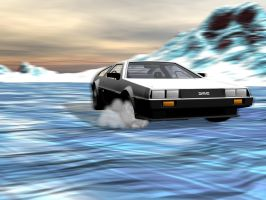 Arctic DeLorean by oldblueford