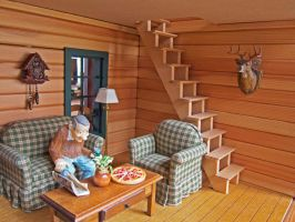 Cabin Livingroom by MiniCarly