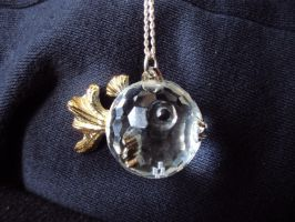 Puffer fish necklace by Alondra-chui