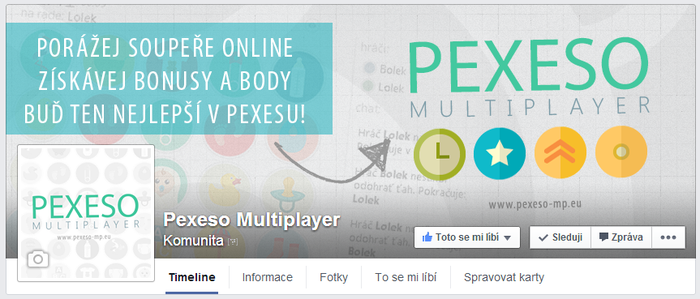 Pexeso Multiplayer - FB page by Ingnition