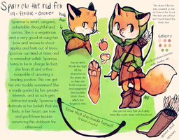 Sparrow the red fox REF SHEET by foxtribe