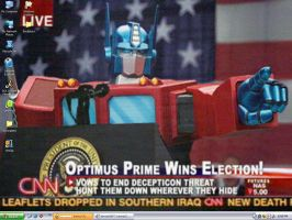 Optimus Prime Wins Election by iceman03