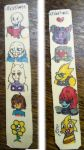 I made my sister a undertale Bookmark by DoodleBugsNotebook