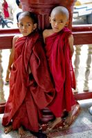 Young Burmese Monks by CitizenFresh