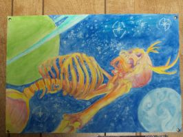 Space Skeleton by DailyBird