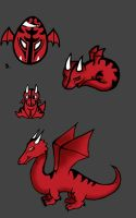 drago chibi, baby, and adult forms by Mimi-The-Turtle