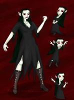 OC Eucrasia the vampire by vick330