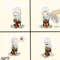 my baby Altair by AlexIbnlaAuditore08