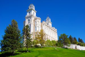 LDS Manti Temple 1 by creativelycharged