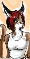 Fursona Caracal by johnjoseco