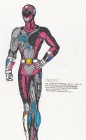 Pink Cyber Ranger by MikeX17