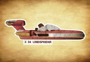 X 34 Landspeeder by SixPixeldesign
