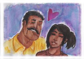 Random couple watercolor by tarunbanned