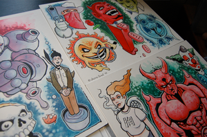 Old tattoo flash by JasonGoad