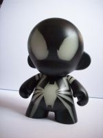 Black Spidey munny by future-parker
