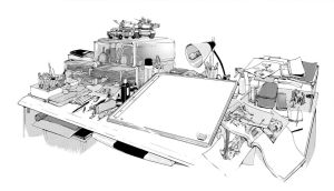 Workbench - Ink and Screentone by LaChuc