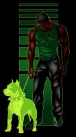 green lantern and pooch by funkydoodler