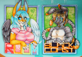 Bust Badges - Roum and Blackcoast by Roum