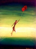 girl with balloons by Kistit