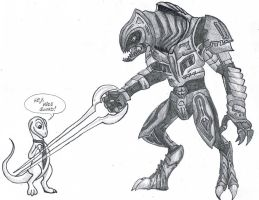 Slim meets The Arbiter by WforWumbo