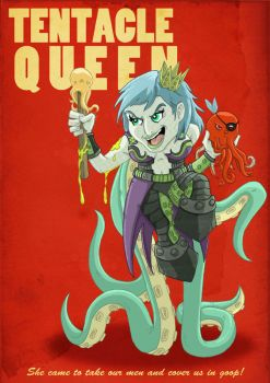 The Tentacle Queen by happymonkeyshoes