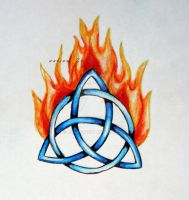 flaming trinity knot by opioid