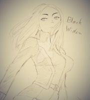 Doodle - Black Widow by Baitong9194
