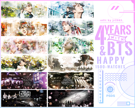 //170613// SHARE PSDs - 4 YEARS WITH BANGTAN by Fleurouges