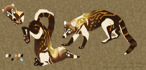 Commish-Coatimundi Design by poppyng