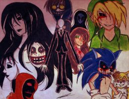My favorite characters of Creepypasta by GothicYola