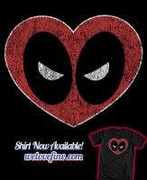 Deadpool Heart by ninjaink