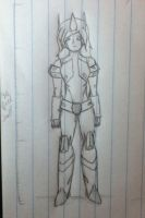 Lucy's Cybertronian form (full body) by Lil-9