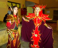WoW Cosplay - Blood Elves by MistressAinley