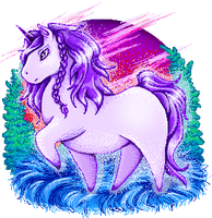 Little Purple Unicorn by FoxDJ