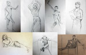 sketches of people by TinaGrey