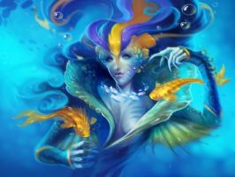 Mermaid by oione
