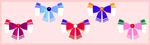 Sailor Scout themed bows with a download by RageXYZ