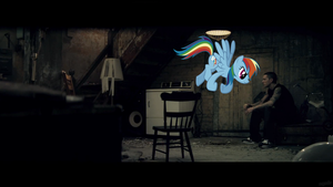 Rainbow Dash confronts Eminem by AdrianImpalaMata