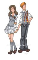 Ron and Hermione by Kara-Harper