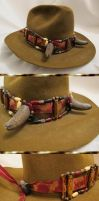 Old West Steampunk Buffalo-Horned Owl Hat Band by Windthin