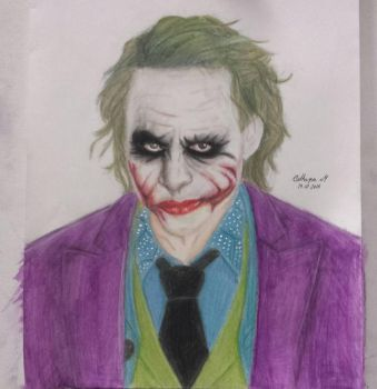 Joker / Heath Ledger / The Dark Knight  by Cathaysa-Martin