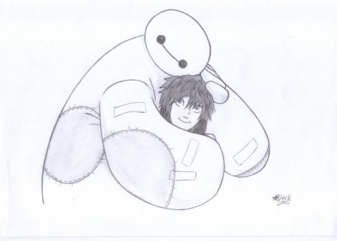Baymax (Big Hero 6) by BlackStarLGArt