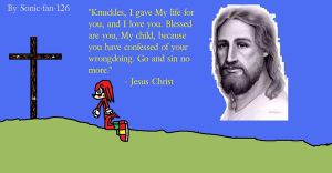 Knuckles Believing in Jesus by sonic-fan-126