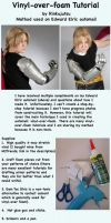 Vinyl over foam tutorial - Edward Elric automail by Rinkujutsu