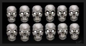 skull expressions by 6evilsonic6